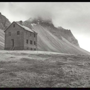 The Deserted farm called Horn.  Fine art black&white photo on Fiber based silver Gelatin paper.