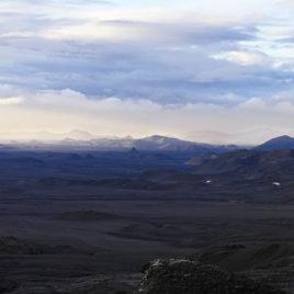 Útsýnið af fjalli rétt ofan við skálann: Sigma SD10 - Panorama