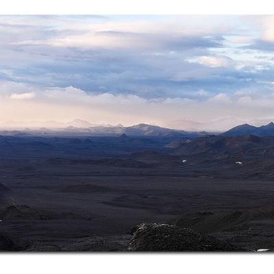 Útsýnið af fjalli rétt við skálan í Kverkfjöllum: Sigma SD10 - Panorama