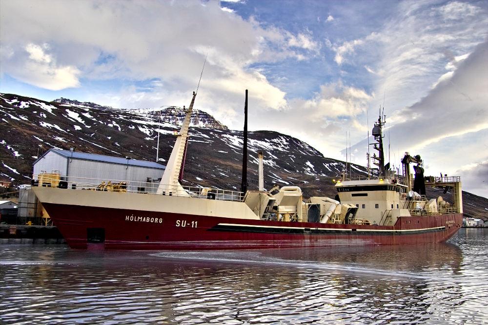 Hólmaborg SU-11 að landa